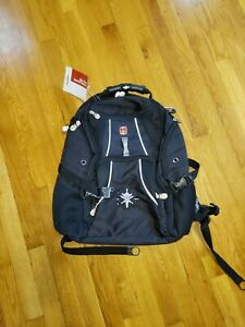 Wenger Swiss Army Airflow Backpack Laptop Computer Back Black 16' tacital NEW