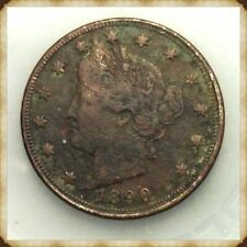 """1890 Liberty Nickel  VF-Details """"Actual Coin Pictured"""""""