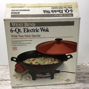West Bend 6 Quart Electric Wok model 79525 Vintage 1991 Brand New