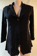 EVERSUN New Black size 14 button front top cardigan NWT long sleeves