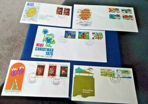 Niue 1970-1975 Five Illustrated First Day Covers