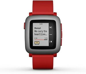 Pebble Time SmartWatch 501-00022 Red, Black, Apple & Android, 22mm Band