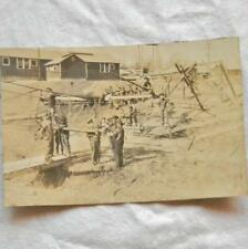 Orig WW1 b/w photo US Army or Marines American cadets obstacle course training