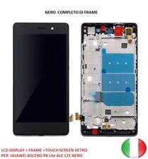 LCD DISPLAY + FRAME +TOUCH SCREEN VETRO  PER  HUAWEI ASCEND P8 Lite ALE-L21 NERO