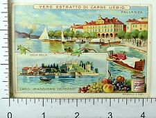 1880's Lago Di Como Lakes Scenes Lovely Liebig Victorian 6 Trade Card Set K47