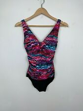 Croft & Barrow Woman Bathing Suit Sz 10 Swimwear One Piece Ruched Padded