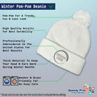 Pom Pom Beanies for Women Captain Boat C Embroidery Others Acrylic Skull Cap