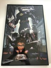 DC Comics Batman Traps Catwoman Print Signed by Greg Horn 11x17 Framed