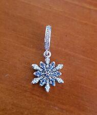 Charm pendente PANDORA Fiocco di Neve Luccicante in argento 925 Nuovo Originale