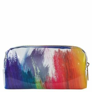 Pencil Beauty Case Clear Paint Strokes Zip Up - Paperchase - (7607)