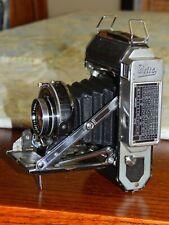 Welta Weltur Folding Camera w/ Carl Zeiss Jena Tessar 1:2.8 f=7.5cm Lens Bellows