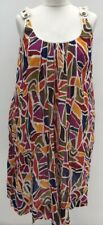 FRENCH CONNECTION FINE COTTON ABSTRACT MULTICOLOURED SMOCK DRESS. SIZE UK 10