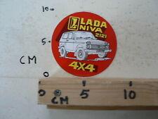 STICKER,DECAL LADA NIVA 2121 4*4 CAR AUTO TERREIN OFF-ROAD A