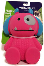 "Vibrant Life Halloween Monster Fetch Chew Squeaky Dog Toy Girl Pup Pink 4"" NEW"