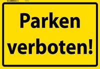 Parken verboten ! Blechschild Metallschild Schild gewölbt Tin Sign 20 x 30 cm