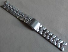 New Mens Timex Stainless Steel Bracelet Links 22mm Push Button Clasp Watch Band
