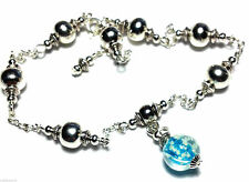 Silver Plated Turquoise Costume Anklets