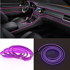 12V 1M Purple EL Wire Car Interior Decor Fluorescent Neon Strip Cold Light Lamp