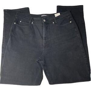 Cambio Women's Jeans Straight Leg Black Denim Sharon Stretch High Rise Size 14
