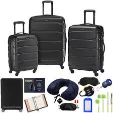 Samsonite Omni Hardside Nested 3pc. Luggage Set, Black w/ 10pc Accessory Kit