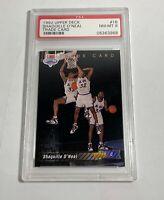 1992 #1B UPPER DECK SHAQUILLE O'NEAL TRADE CARD PSA 8 ROOKIE CARD RC SHAQ