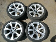 "BMW 5 6 SERIES E60 E61 E63 E64 GENUINE ALLOY WHEELS & TYRES 18"" 5X120 STYLE 124"
