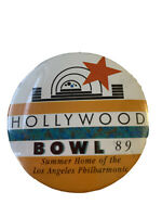 Vintage Hollywood Bowl 1989 Button Pin Summer Home Of Los Angeles Philharmonic