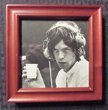 """Rolling Stones Mick Jagger w/ Headphones 5x5"""" Standee Framed Picture"""