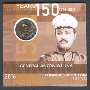 2016 Philippine 10 Piso Commemorative Gen. ANTONIO LUNA Bi-Metal Coin