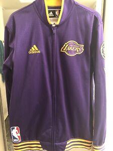 Lakers warm up jacket men's medium Adidas Purple