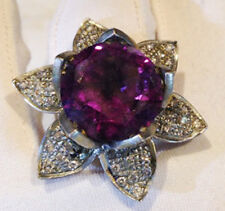 3.10ct Rose Cut Diamond Amethyst Antique Victorian Look 925 Silver Cocktail Ring