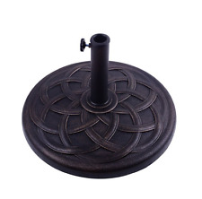 "22"" Round Umbrella Base Stand Outdoor Living Heavy Duty Umbrella Holder Standing"