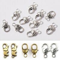 10pcs Gold /Silver Plated/ Black Lobster clasps Claw hooks jewelry findings DIY