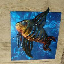 Metal Wall Sculpture fish art work home decor living room indoor outdoor patio