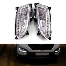 LED DRL Daytime Running Light Fog Lamp For Hyundai IX45 Santa Fe 2013 2014 2015