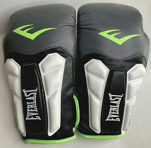 Everlast PRIME 16oz Grey Neon Green Boxing Training Gloves 001754 A5