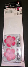 IMAGINISCE I-ROCK STENCIL KIT FLOWERS & GEMS  - FLOWER  PINK NEW