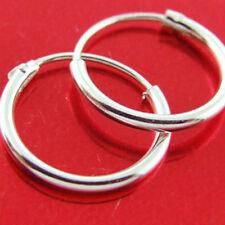 Hoop Earrings Sleeper Design Real 925 Sterling Silver Girls Small Kids Size