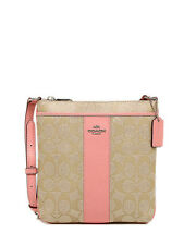 NWT Coach Sign PVC Swingpack Crossbody in Lt Khaki/Pink F 52856