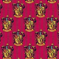 HARRY POTTER GRYFFINDOR HOUSE FABRIC - 100% Cotton - Red (93/4-07)