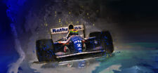 Ayrton Senna Motorsport Automotive Car Art 1994 Williams Rothmans F1 formula one