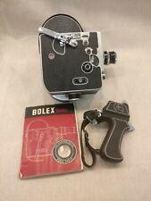 Paillard Bolex H-16 M 16mm Cine Film Camera With Lens and Trigger Grip 1958