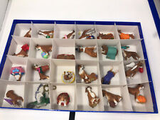 Lot Of 39 the Danbury Mint Dog Ornaments Collection Set in box