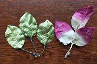 Vintage Millinery Leaves Leaf Faux Greenery Lot Floral Flowers