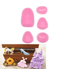 5X Fairy Theme Cinderella Silicone Cake Mold Castle Pumpkin Carriage Shoe S6