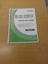 CANON POWERSHOT SX260 HS USER MANUAL GUIDE INSTRUCTIONS  PRINTED 228 PAGES A5