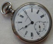 Longines Pocket Watch open face silver case 47 mm in diameter cal 18.79