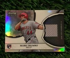 2011 Bowman Sterling Mark Trumbo Rookie  Game Used Relic Card Orioles HOT