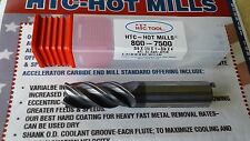 "High performance 4-flute variable indexed 3/4"" Carbide HOT Mills coated-USA"