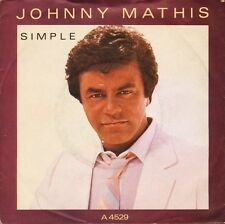 """JOHNNY MATHIS simple/lead me to your love A 4529 uk cbs 1984 7"""" PS EX/EX"""